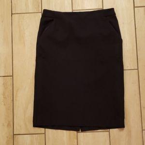 A New Day navy pencil skirt 6 strech